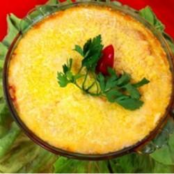 Lasanha de panqueca verde aos quatro queijos